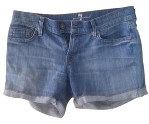 7 For All Mankind Seven7 Beach Summer Cut Off Shorts Medium Blue