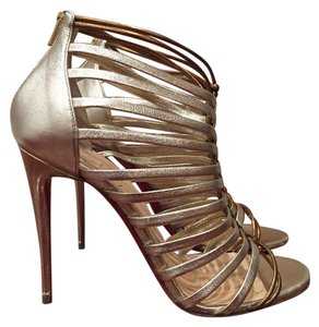 Christian Louboutin Milla Bootie Stiletto Leather 100 Light gold Pumps