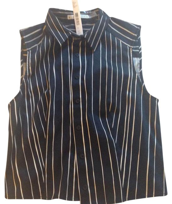 Item - Blue and White None Halter Top Size 4 (S)