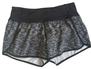 Lululemon LULULEMON RUN TIME SHORTS BLACK WHITE GRAY SIZE 4