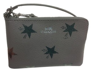Coach Clutch Star Canyon Gray Wristlet in Grey