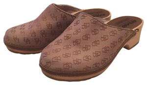 Dooney & Bourke Brown Mules