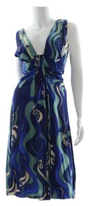 Alberta Ferretti Elegant Sleeveless Rouching Dress