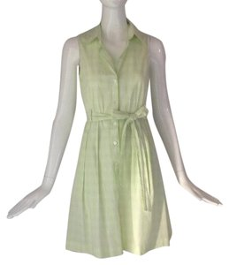 Theory short dress Yellow green/ white on Tradesy