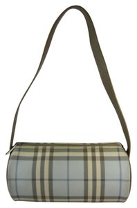 Burberry Blue Nova Check Leather Shoulder Bag