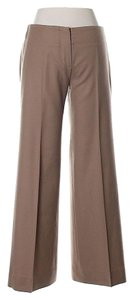 Chloé Mide Rise Trousers Trouser Pants Tan