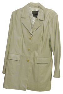 Terry Lewis Classic Luxuries Winter White Leather Jacket