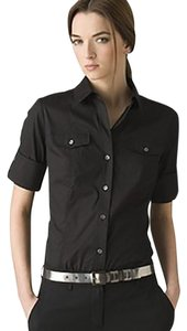 Theory Button Down Casual Button Down Shirt Black