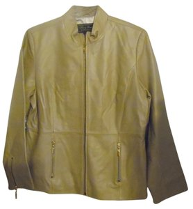 Terry Lewis Classic Luxuries Taupe Leather Jacket
