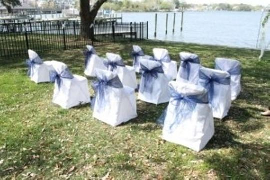 Navy Blue Chair Bows - Lot Of 25 Ceremony Decoration