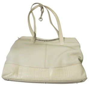 Brighton Leather Handbag Satchel in White