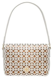 Tory Burch Laser Cut Perforated Leather Shoulder Bag