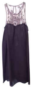 Free People short dress Purple Racerback Lace Embroidered New on Tradesy