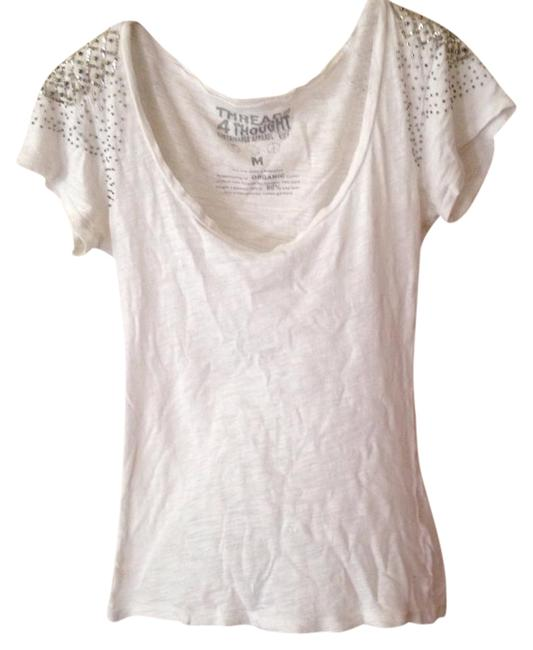 Item - White and Silver Hardware Tee Shirt Size 10 (M)