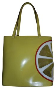 Lamarthe Leather Tote in Chartreuse