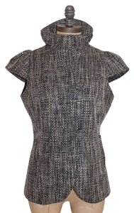 Saks Fifth Avenue Cap Sleeve TWEED Jacket