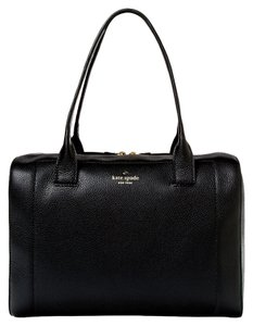 Kate Spade Leather Gold Hardware New York Classic Satchel in Black