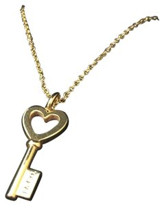 Tiffany & Co. Mini rose gold key nacklace