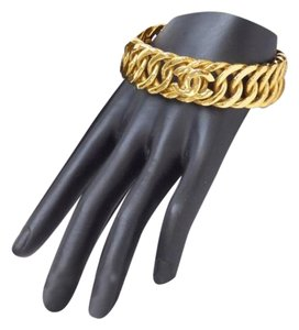 Chanel Chanel Triple Chain Cc Bangle 18K Gold Plated