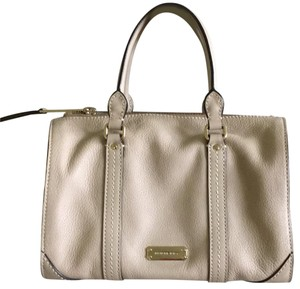 Burberry Leather Satchel in Beige