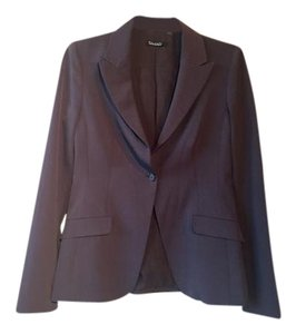 Tahari Classic Tapered Tailored brown Blazer
