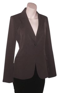Tahari Classic Tapered Tailored Minimalist brown Blazer