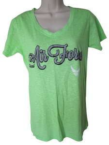 J. America Air Force T Shirt Lime Green