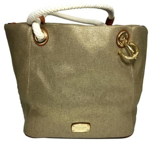 Michael Kors Marina Canvas Tote in Gold