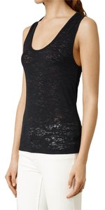 AllSaints T-shirt Crop Tee Shirt Top Black