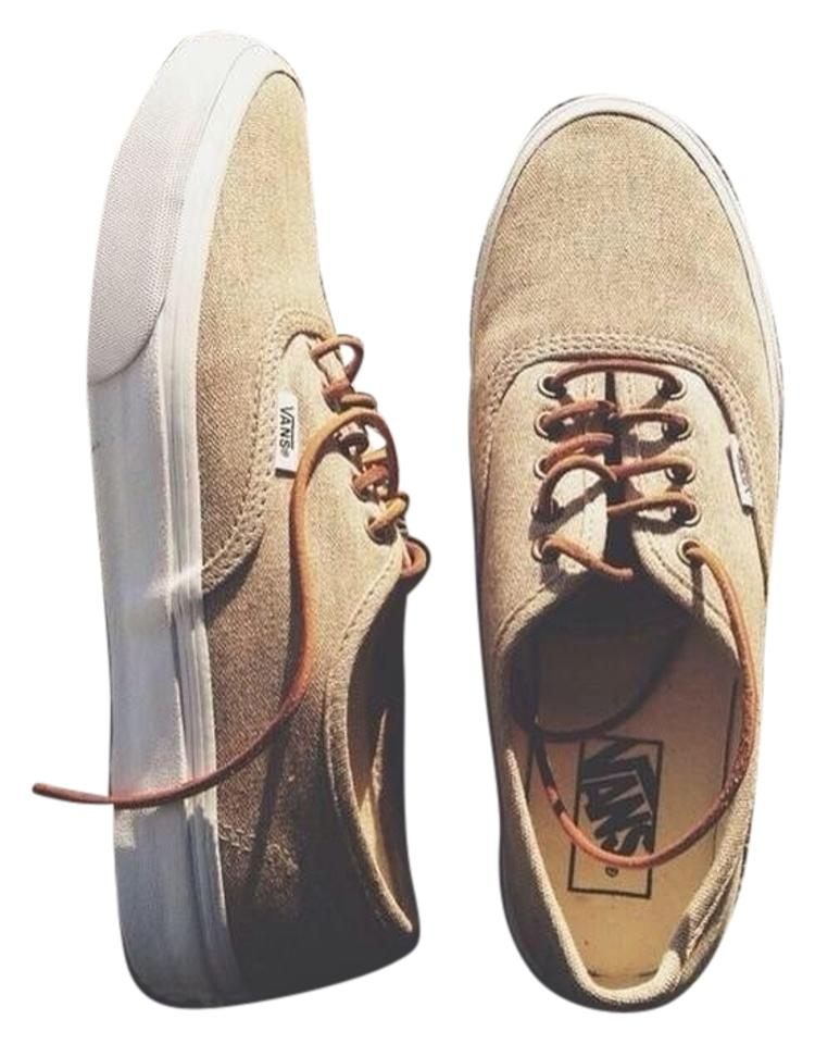 Vans Brown Tan with Leather Laces Sneakers Size US 7.5 Regular (M 8fb90b725