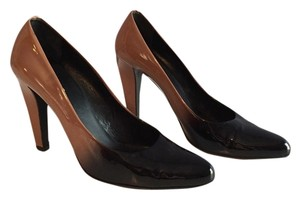 Prada Black And Tan Ombr Pumps