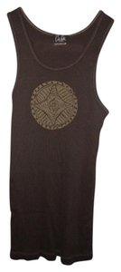 City Lights Boho Gypsy Hippie Tribal Mandala Top Dark Brown-Green