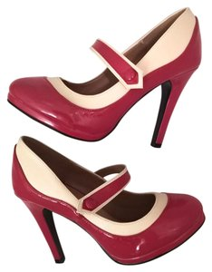Modcloth Vintage Pin Up Mary Jane red Pumps
