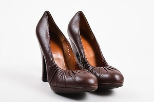 Dries van Noten Leather Brown Pumps