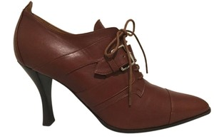 Hermès Hermes Booties Leather Brown Pumps