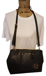MICHAEL Michael Kors Leather Tote in black