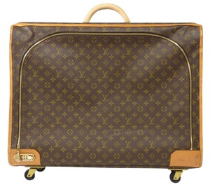 Louis Vuitton Suitcase Luggage Trunk Satellite Travel Brown Travel Bag