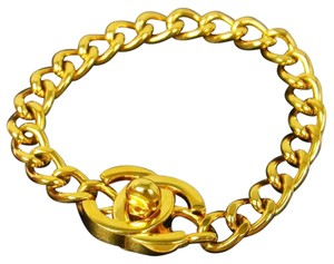 Chanel (Fall Sale) Chanel CC Turnlock Chain Bracelet Rare