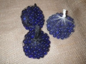 Navy Blue Glass Beads Centerpiece