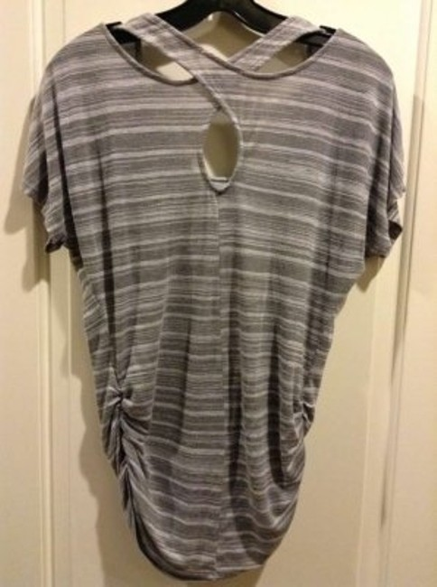 Olivia Moon T Shirt Grey stripe