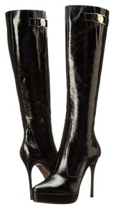 Versace Collection Knee High Boot Black Boots