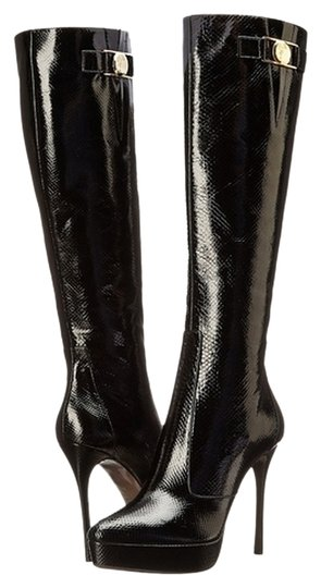 Versace Collection Knee High Stilleto Size 37 Black Boots