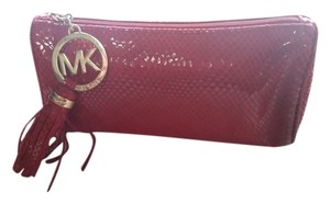 Michael Kors MICHAEL KORS LIMITED EDITION RED SNAKESKIN COSMETIC CASE