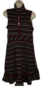 Lamb short dress Black w/ red,white and taupe on Tradesy