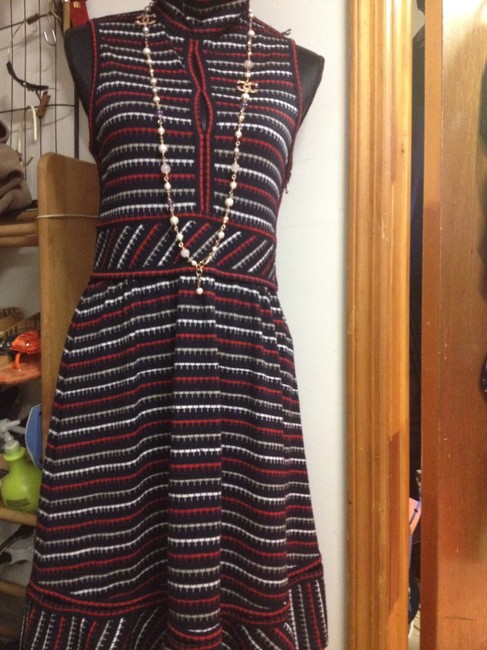 L.A.M.B. short dress Black w/ red,white and taupe on Tradesy