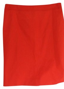 Valentino Cotton Pencil Skirt Red