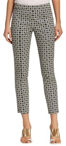 Tory Burch Jacquard Cotton Trouser Pants Ivory / Black