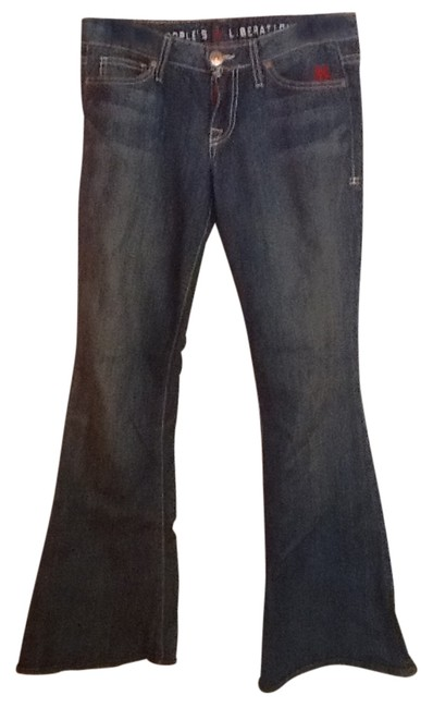 Preload https://item5.tradesy.com/images/people-s-liberation-blue-flare-leg-jeans-size-28-4-s-184864-0-0.jpg?width=400&height=650