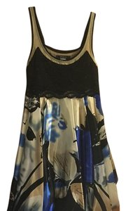 Arden B. short dress Blue with black lace on Tradesy