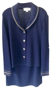 St. John St John Collection Knits- Navy and Gold